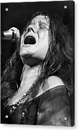 Janis Joplin Singing Acrylic Print by Bettmann
