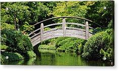 Acrylic Print featuring the photograph Japanese Garden Arch Bridge In Springtime by Debi Dalio