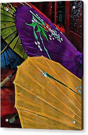 Acrylic Print featuring the photograph Japanese Parasol Harmony by Dorothy Berry-Lound