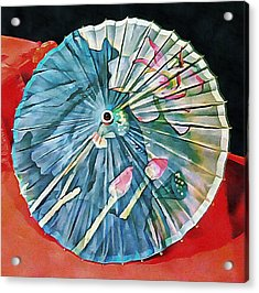 Acrylic Print featuring the photograph Japanese Parasol Study 1 by Dorothy Berry-Lound
