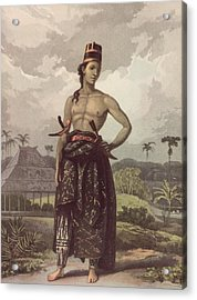Javan Royalty Acrylic Print by Hulton Archive