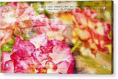 Jean 13-35 Disciples Acrylic Print
