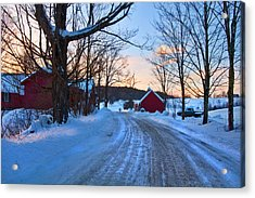 Acrylic Print featuring the photograph Jenne Farm Sunrise - Woodstock, Vt. by Joann Vitali