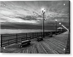 Jersey Shore In Winter Acrylic Print