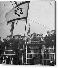 Jewish Immigrants, Arriving In Haifa Abo Acrylic Print
