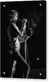 Jim Morrison Live Acrylic Print by Michael Ochs Archives