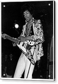 Jimi Hendrix With A Flying V Acrylic Print
