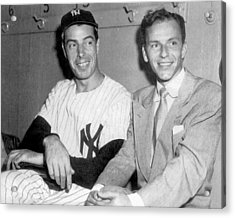 Joe Dimaggio And Frank Sinatra At Acrylic Print by New York Daily News Archive