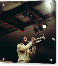 Joe Newman Performs On Stage At Newport Acrylic Print by David Redfern