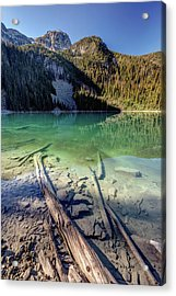 Acrylic Print featuring the photograph Joffre Lake Middle On A Calm Sunny Morning by Pierre Leclerc Photography