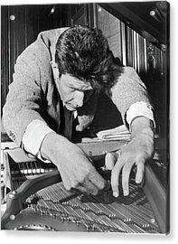 John Cage Tunes A Piano Acrylic Print