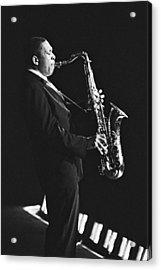 John Coltrane In Paris, France In 1963 - Acrylic Print