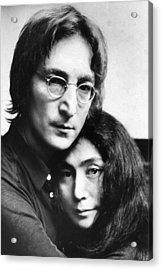 John Lennon And Yoko Ono Acrylic Print