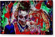 Acrylic Print featuring the mixed media Joker And Harley Quinn 2 by Al Matra