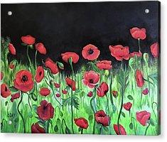 Jon's Poppies Acrylic Print