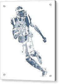 Josh Gordon New England Patriots Water Color Pixel Art 1 Acrylic Print