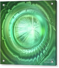 Journey In Green Acrylic Print