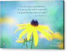 Joy And Gratefulness Acrylic Print