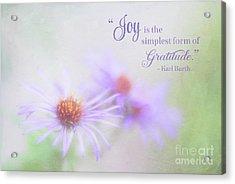 Joy And Gratitude For All Seasons Acrylic Print