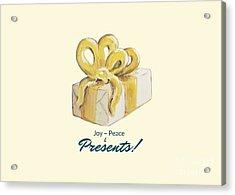 Joy, Peace And Presents Acrylic Print