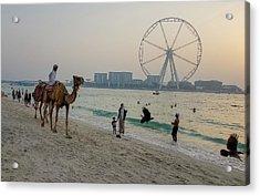 Jumeirah Beach, Dubai Marina, Dubai, United Arab Emirates Acrylic Print