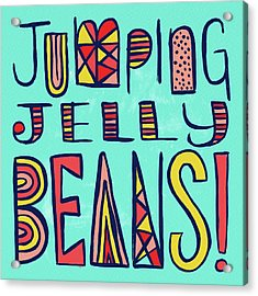 Jumping Jelly Beans Acrylic Print