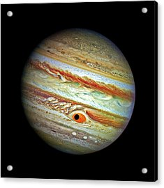 Acrylic Print featuring the photograph Jupiter And Ganymead Shadow Outer Space Image by Bill Swartwout Fine Art Photography