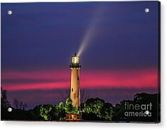 Acrylic Print featuring the photograph Jupiter Light Beam by Tom Claud