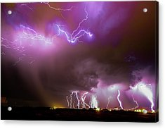 Acrylic Print featuring the photograph Just A Few Bolts 001 by NebraskaSC