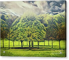 Acrylic Print featuring the photograph Just Trees by Leigh Kemp