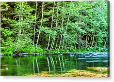 Acrylic Print featuring the photograph Kalama River Soothing Flow by Dee Browning