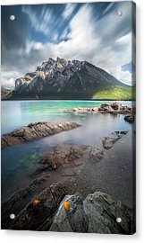 Acrylic Print featuring the photograph Kaleidoscope Of Fall Color / Lake Minnewanka, Alberta, Canada by Nicholas Parker