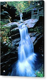 Kancamagus Highway Sabbaday Falls, New Acrylic Print by John Elk Iii