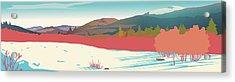 Kancamagus Overlook Acrylic Print by Marian Federspiel