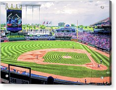 Kauffman Stadium Kansas City Royals Baseball Ballpark Stadium Acrylic Print