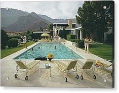 Kaufmann Desert House Acrylic Print by Slim Aarons