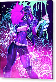 Acrylic Print featuring the painting Kda Akali by Pete Tapang