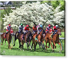 Keeneland Down The Stretch Acrylic Print