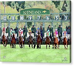Keeneland Starting Gate Acrylic Print