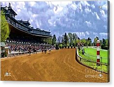 Keeneland The Stretch Acrylic Print