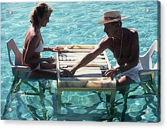 Keep Your Cool Acrylic Print by Slim Aarons