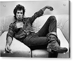 Keith Richards Portrait Session Acrylic Print