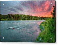 Acrylic Print featuring the photograph Kenai River Alaska Sunset by Nathan Bush