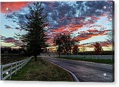 Acrylic Print featuring the photograph Keswick Sunset by Lori Coleman