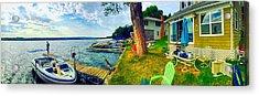 Keuka Lake Mornings Panorama Acrylic Print