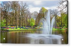 Acrylic Print featuring the photograph Keukenhof Tulip Garden Holland by Nathan Bush