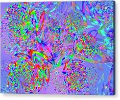 Acrylic Print featuring the digital art Key Remix One by Vitaly Mishurovsky