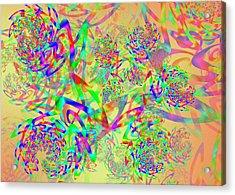 Acrylic Print featuring the digital art Key Remix by Vitaly Mishurovsky