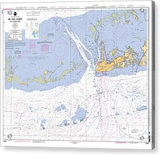 Key West Harbor And Approaches, Noaa Chart 11441 Acrylic Print