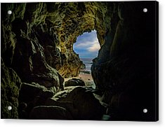 Keyhole Cave In Malibu Acrylic Print